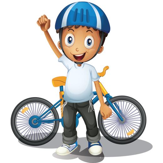 وکتور کودکانه دوچرخه سواری