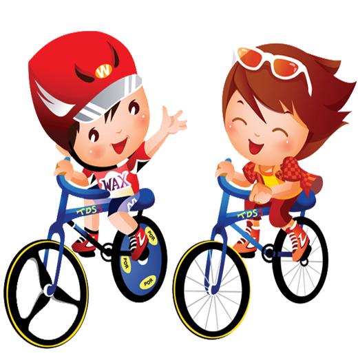 وکتور دوچرخه سواری بچه