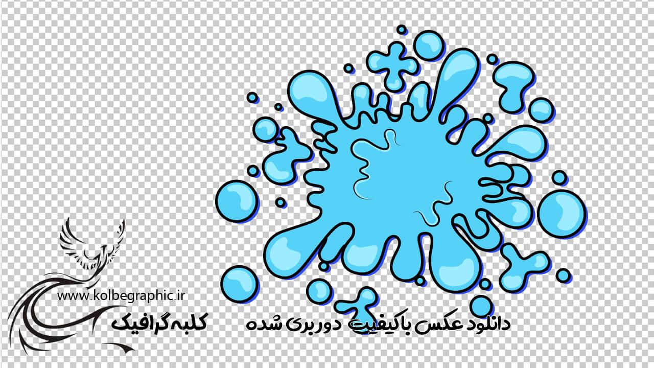 وکتور کارتونی کادر متن قطره آب