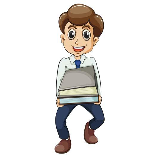 وکتور پسر بچه با کتاب