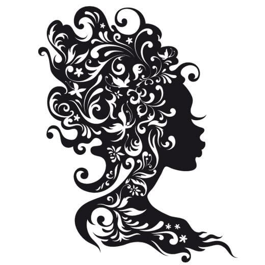 دانلود طرح وکتور آرایشگاه زنانه