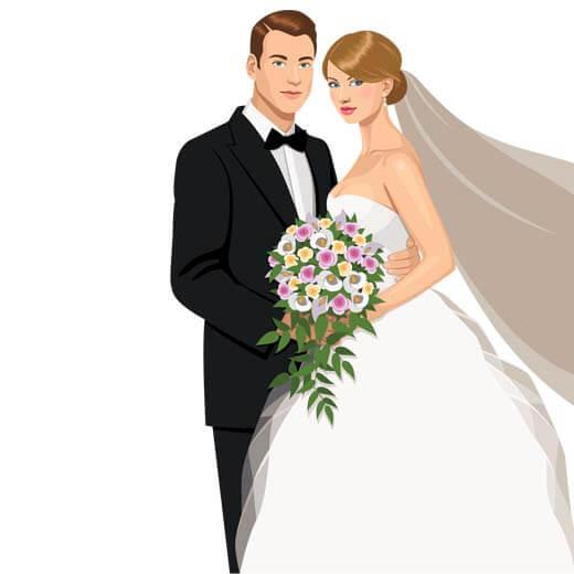وکتور و تصویر با کیفیت عروس و داماد