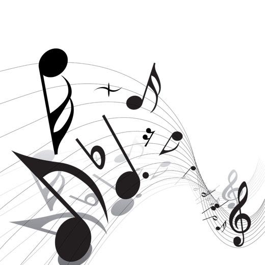 طرح نوت موسیقی png